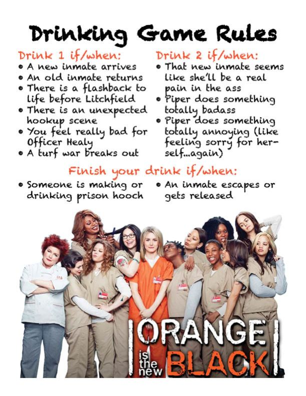 OITNB Drinking Game