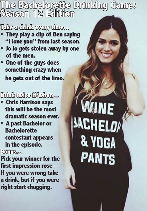 The Bachelorette - Drinking Game